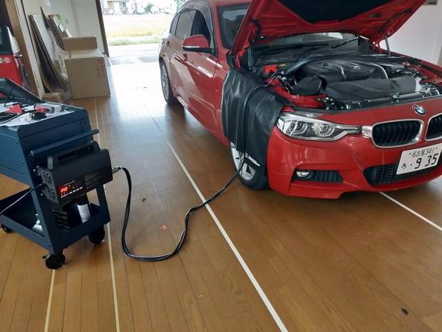 BMW フロントガラス エーミング修了.jpg