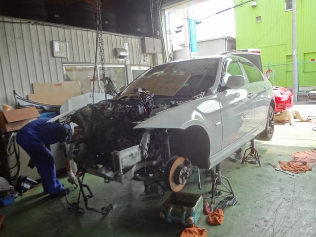 エンジン載せ替え_BMW(LBA-PG20)_1.JPG